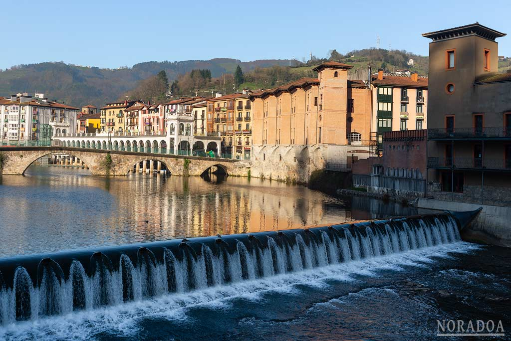 El río Oria a su paso por Tolosa