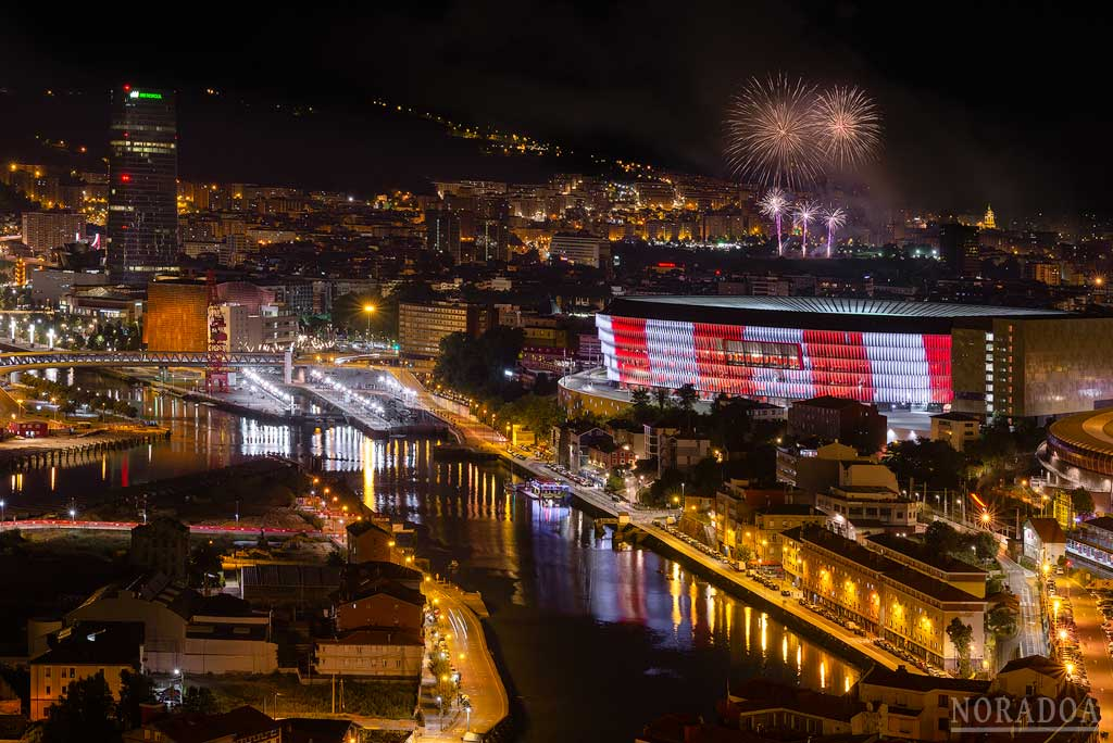 Bilbao desde la carretera a Kobetamendi