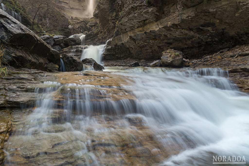 Cascadas del cañón de Delika