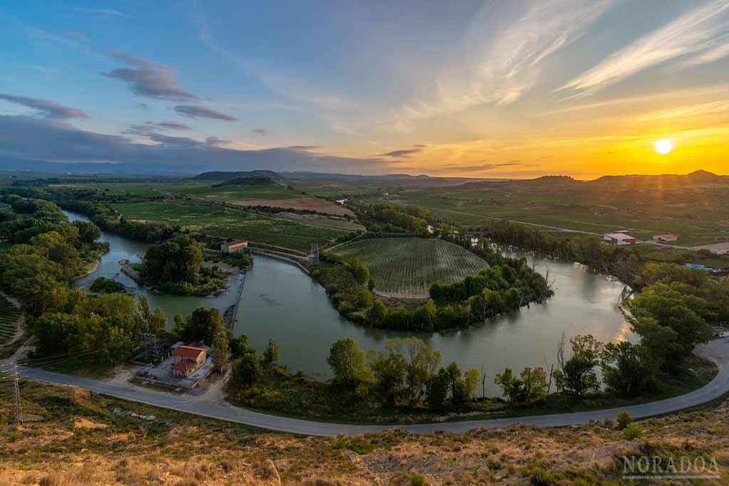 Panorámica del río Ebro en Baños de Ebro, Rioja Alavesa