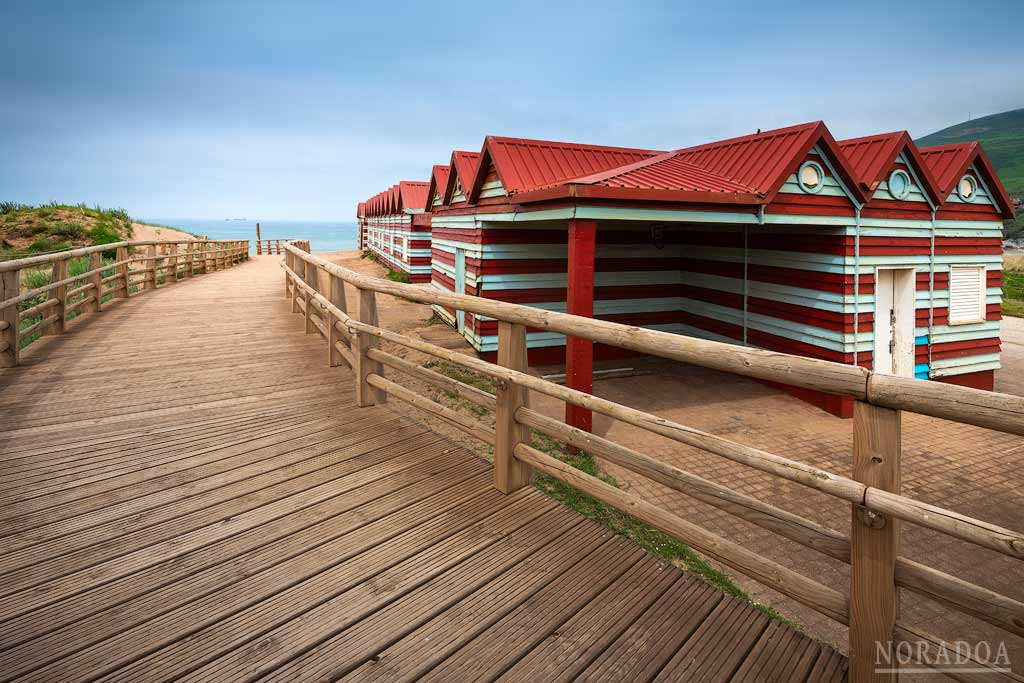 Casetas de la playa de La Arena