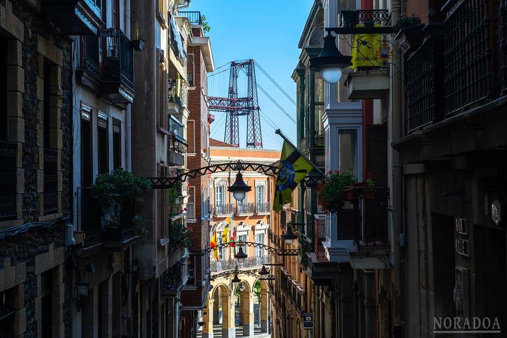 Vistas desde la calle Santa María de Portugalete