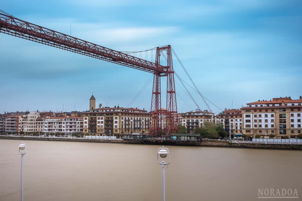 El Puente Colgante de Portugalete visto desde el hotel